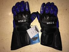Weise Motorcycle Bike Gloves Hide Leather Goatskin Kevlar Armoured Only £19.99