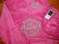 Juicy Couture Snowflake Glamour Pink Velour Hoodie & Pants-XS-NWT