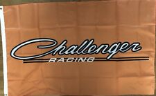 Challenger Racing Flag 3x5 Orange Banner Garage  Dodge Mopar Car Show Man Cave