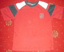 Rojo Oscuro Camiseta 10 años de edad