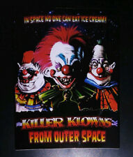 STICKER - Killer Klowns From Outer Space - HORROR movie - 80s, clowns, cult