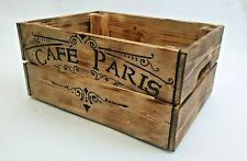 Shabby Chic Rustic Industrial Wooden Crate Storage Planter Box Wood Burn effect