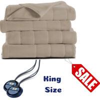 Sumbeam Full Microplush Electric Heated Throw Blanket 10