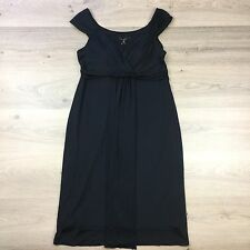 Lovers Babydoll Black Dress LBD Sz 14 Stretch Lined Knee Length RRP $170 (AT15)