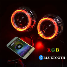 3.0 inch H1 Bi Xenon Hid Projector Lens Shrouds RGB APP Bluetooth Led Angel Eyes