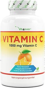 365 Tabletten Vitamin C 1000mg Hagebuttenextrakt + Bioflavonoiden Time Released