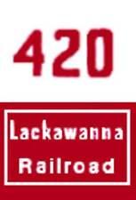 HO 420 LACKAWANNA NOSE ADHESIVE BACK for GILBERT HO/AMERICAN FLYER HO TRAINS
