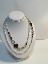 """Ippolita Long 36"""" Rock Candy Gemstone Necklace In Sterling  Previously $1,200"""