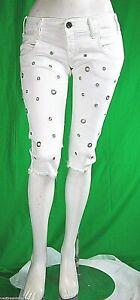 Pantaloni Corti al Ginoccho Donna Jeans MET Italy C569 Bianco 31 veste piccolo