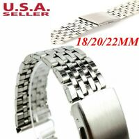 18-22mm Stainless Steel Solid Links-Watch Band Strap Bracelet Clasp Belt Strap