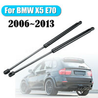 For BMW X5 E70 2006~2013 2PCS Spring Steel Black Tailgate Boot Struts ❤️ !