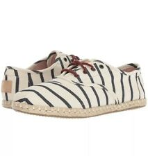 BRAND NEW Toms Cordones Natural Woven Rivera Stripe On Rope Shoe Women's US 7