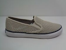 Sperry Size 7 M SEASIDE PERF White Leather Fashion Sneakers New Womens Shoes