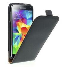 Samsung Galaxy S5 Neo Handy Tasche Flip Case echt Leder Aufklapp Etui schwarz