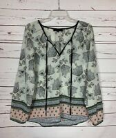 Anthropologie Sanctuary Women's S Small Floral Boho Long Sleeve Blouse Top Shirt