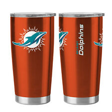 Miami Dolphins Travel Tumbler - 20oz Ultra [NEW] NFL Cup Mug Coffee
