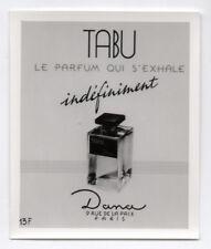 PHOTO ANCIENNE PUBLICITÉ DE PARFUM PUB TABU DANA PARIS VERS 1950