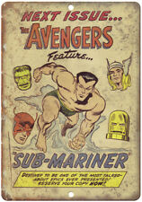"""The Avengers Sub-Mariner Comic Book Ad 10"""" X 7"""" Reproduction Metal Sign J117"""