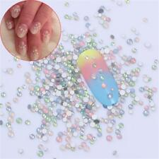 Mixed Sizes Fingernail Glitter 3D Gems Flat Bottom Opal Nail Rhinestones