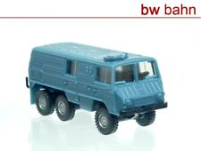 Roco miniatur modell H0 1706 Steyr Puch Pinzgauer 6x6 Kastenwagen graublau Neu