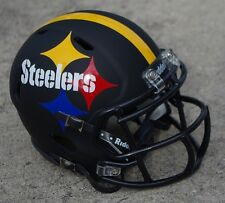 PITTSBURGH STEELERS BLACK MATTE SPEED CONCEPT FOOTBALL MINI HELMET