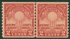 USA : 1929. Scott #656 Line pair. Fresh & Mint NH. PSAG Cert. Catalog
