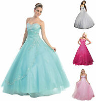 New Evening Dresses Prom Formal Party Gown Stock Size 6 8 10 12 14 16