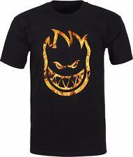 Spitfire Wheels Bighead Inferno Skateboard T Shirt Black Medium