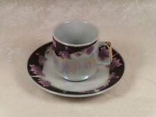 Set of 5 Demitasse Cups & Saucers / Yaushing Fine Porcelain / Pattern - 1946