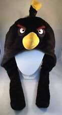 Angry Birds black Bird Plush Hat New With Tags Super Cute Size L