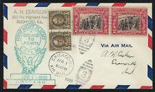 1930 FFC - FIRST NIGHT FLIGHT CHICAGO TO ATLANTA - CACHETED - NICE!