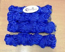"""New set of 4 ROYAL BLUE  haynets 42"""" for horses ponies 12 rings extra strong"""