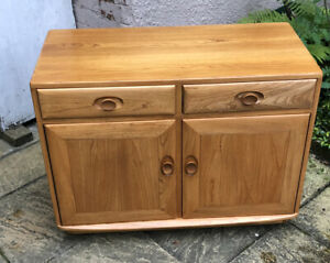 FINE  RARE  MODERN ERCOL TV MEDIA  CABINET SIDEBOARD -  DELIVERY AVAILABLE
