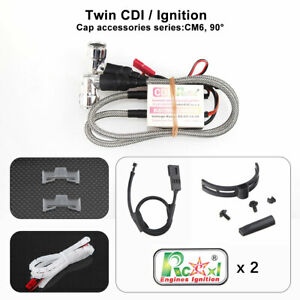 RCEXL Electric Twin Ignition w/ Hall Sensor for NGK-CM6-10MM 90 Degree 6-14.4V