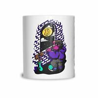 Bitcoin Moon Mug Cryptocurrency Viral Meme Crypto Coffee Tea Cup