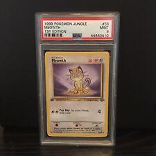 1999 Pokemon Jungle 1st Edition Meowth #56 PSA 9 MInt