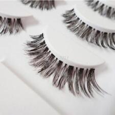 5 Pairs Natural Long Cross False Eyelashes Fake Thick Black Eye Lashes Beauty