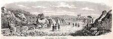 Ostia Antica: via delle Tombe. Area Archeologica. Roma. Agro Romano. Lazio. 1860