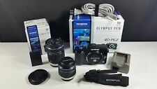 Olympus PEN E-PL2 12.3MP Digital Camera - Black (Kit w/ II 14-42mm and 40-150mm)