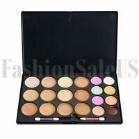 20 Colour Face Contour Kit Highlighter Makeup Cream Concealer Palette with Brush