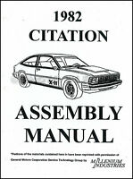 1982 Chevrolet Citation Factory Assembly Manual Chevy Exploded Views