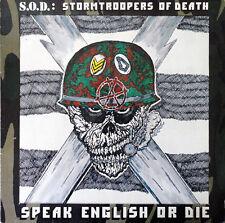 S.O.D.: STORMTROOPERS OF DEATH Speak English Or Die 1985 Vinyl LP