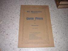 1904.variae preces / Charles Tournemire.partition harmonium