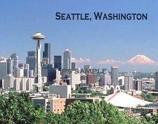 SEATTLE, WASHINGTON - Travel Souvenir Flexible Fridge Magnet