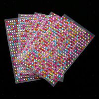 5Sheets Multi Self Adhesive Gem Crystal Scrapbooking Embellishments Stickers