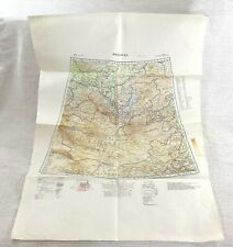 1939 WW2 Military Map of Mongolia Asia The Far East Original War Office Issue