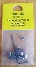 Safety Pin Locks/Keepers. Secure your badges. Pack of 12 including allen key.