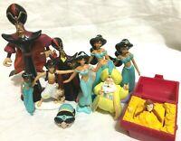 Lot of 10 Disney Aladdin Figures Jafar Jasmine Sultan Abu                B1