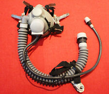RARE Flight Helmet Air Force Pilot Helmet  OXYGEN MASK  FREE SHIPPING