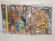 Lego Bionicle DC Comic 1,3,5,6,7,8,13,15 UNOPENED RARE Lot of 8 w/Lego Magazine